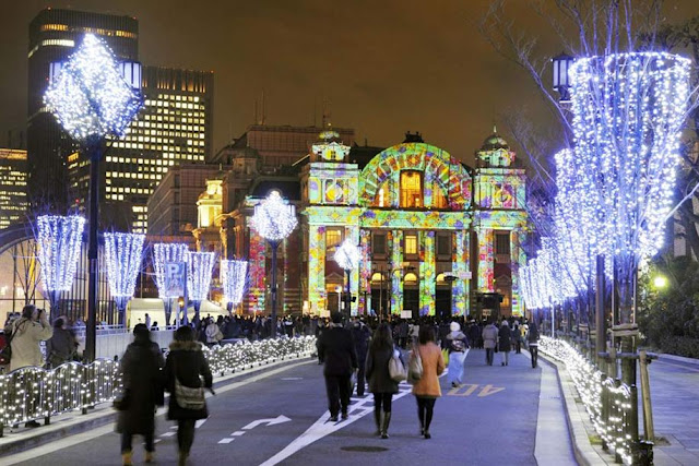 Osaka Hikari-Renaissance, an illuminated walk along event
