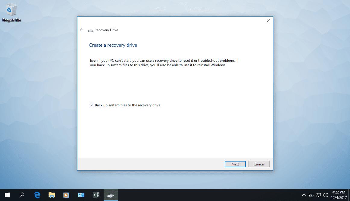 Hướng dẫn tạo thiết bị phục hồi máy tính trong Windows 10 - Ảnh 2