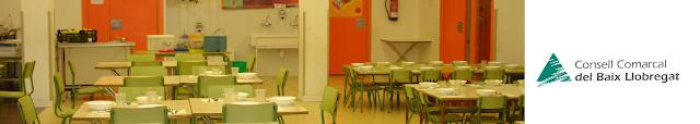 Imatge amb enllaç a la pàgina web d'ajuts de menjador escolar del Consell Comarcal del Baix Llobregat