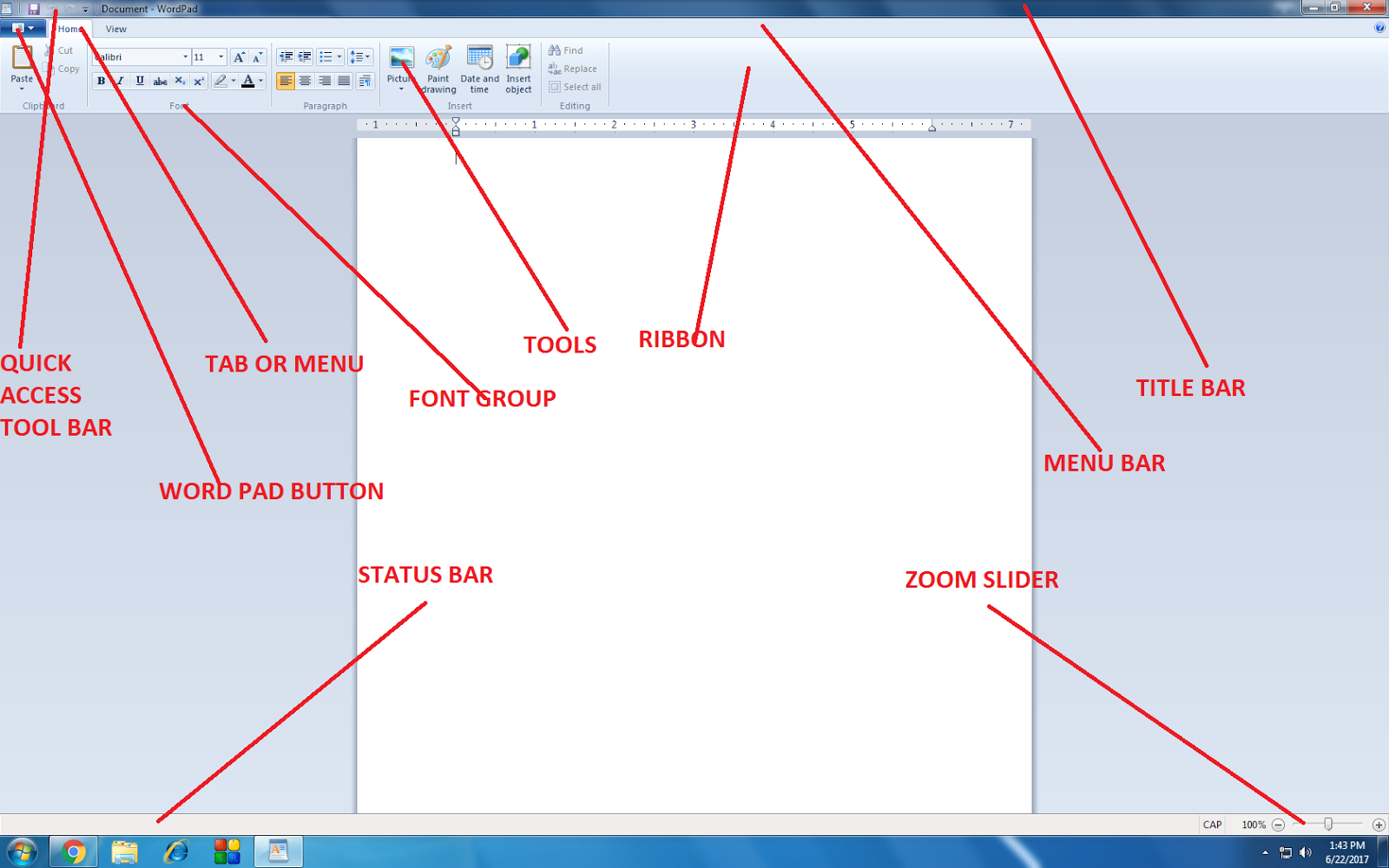 Bbeducation point wordpad part 1 step 3 click ok ccuart Images