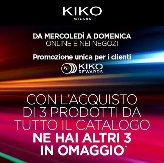 KIKO REWARDS - sconti - omaggi - sconto - omaggio - regalo - regali - 3 + 3 - haul - double touch - long lasting stick cream eyeshadow -