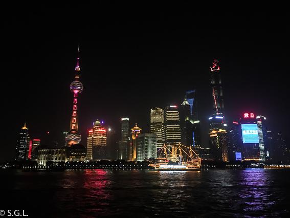 Skyline de Shanghai vista desde el Bund