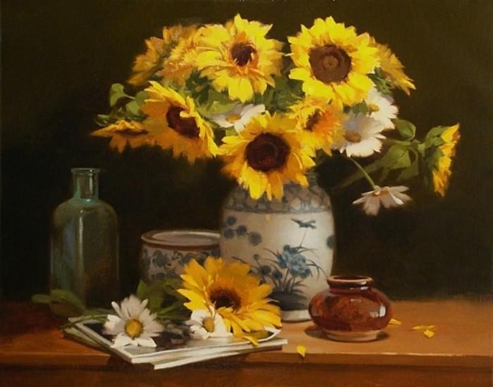 Рисунки цветов. Laurie Kersey 3