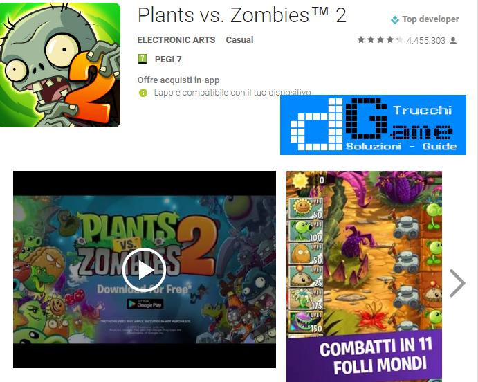 Trucchi  Plants vs Zombies 2 Mod Apk Android v5.7.1