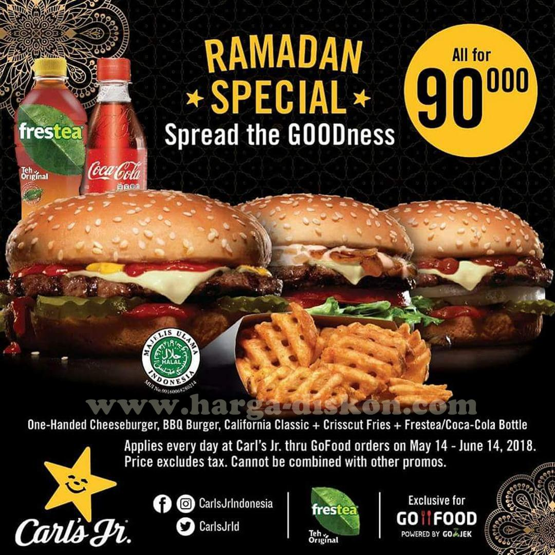 Promo Carls Jr Terbaru Paket Ramadhan Give Back Hanya Rp90 000