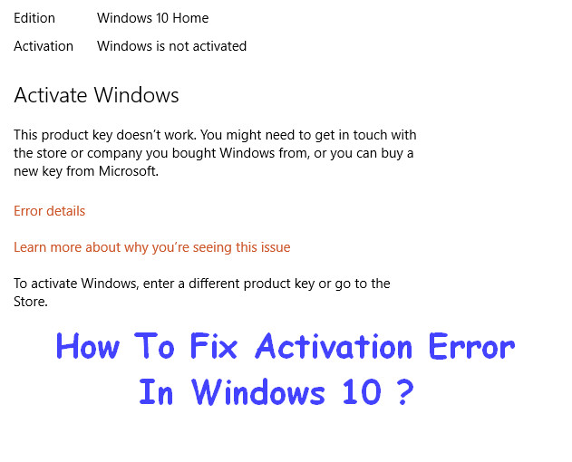 Error 0x8007000d Activation