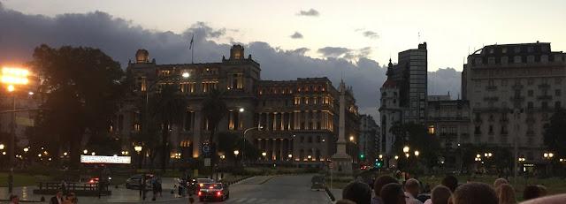 Plaza Gral. Lavalle at Sunset