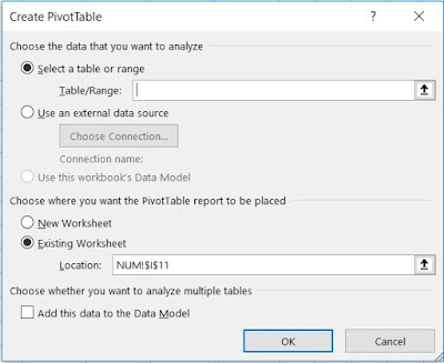 Mengolah data iklim - Create PivotTable