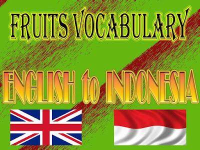 65 fruit names english to indonesia