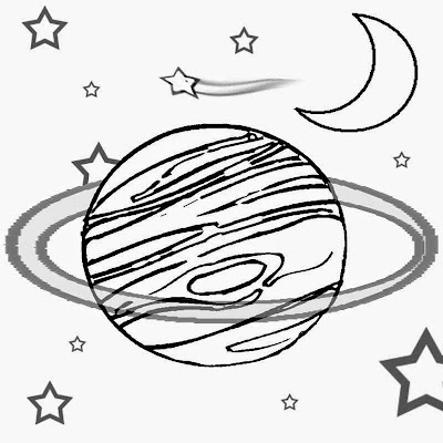Kids craft art class lesson free clipart planet and space solar system print pages to color and draw