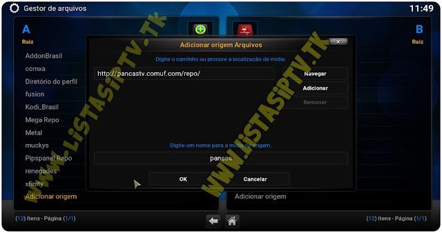 Add-On Pancas TV - KODI - TV Portuguesa Ao Vivo