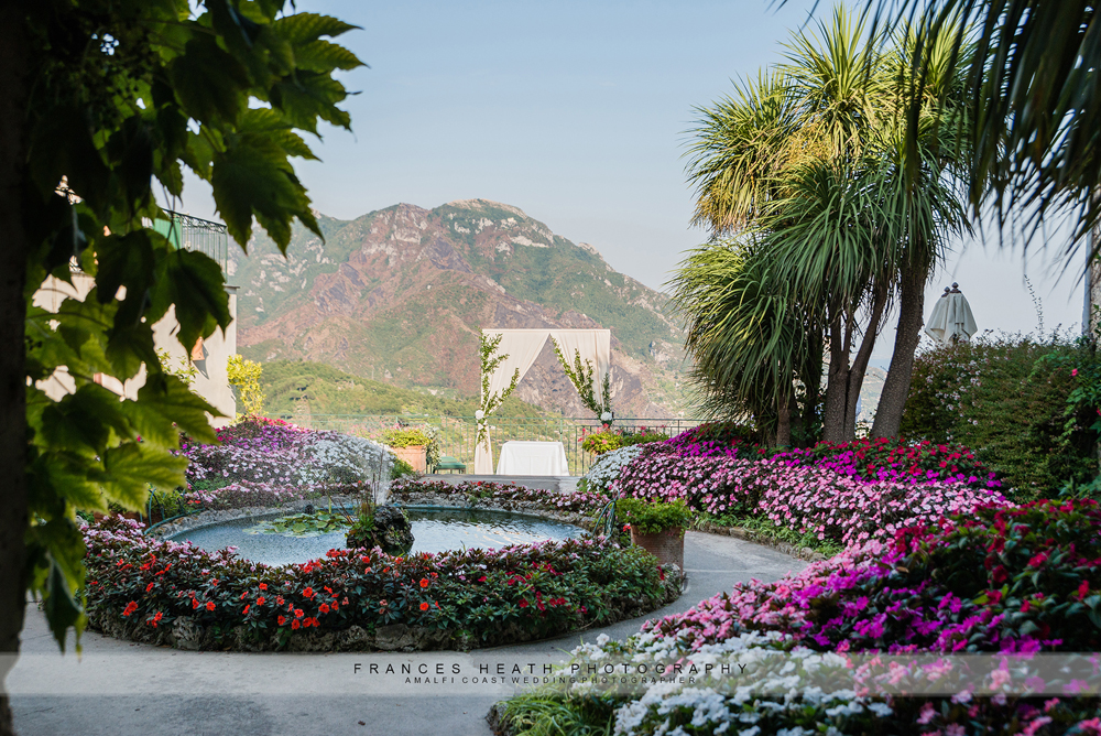 Wedding ceremony location in Ravello