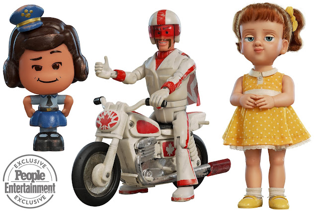 Toy Story 4 Giggle McDimples, Duke Caboom and Gabby Gabby character art