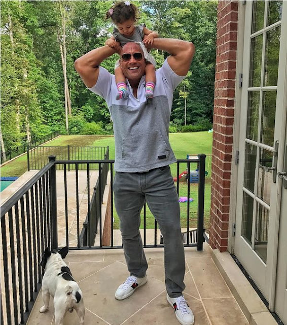 The Rock and Daughter On New Father and Daughter Photo