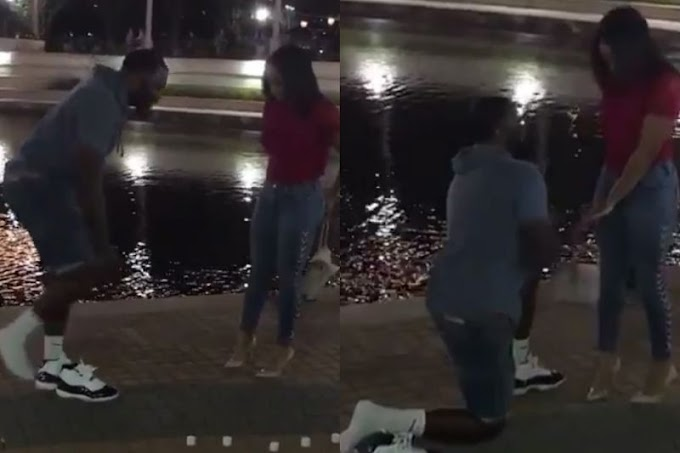 The internet loves this sneakerhead's 'legendary' move before proposing to his girlfriend