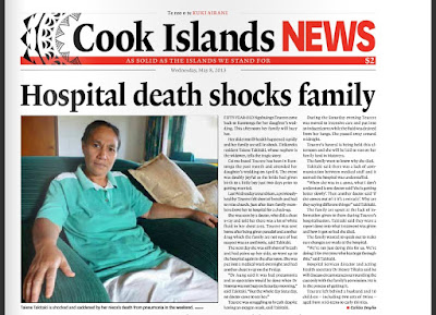 Hospital death shocks family