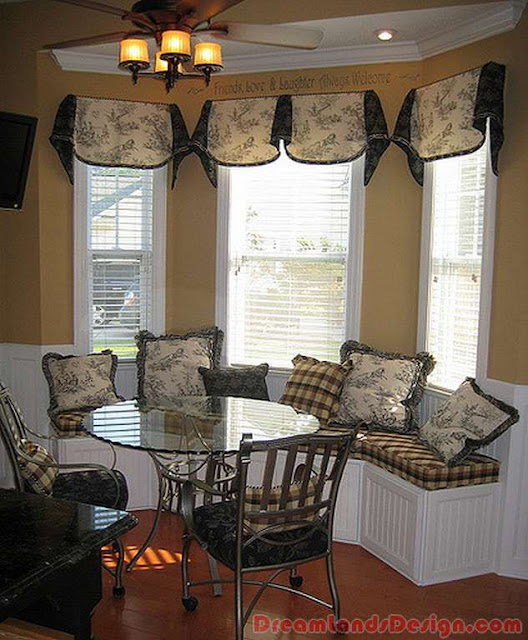 Bay window with seating