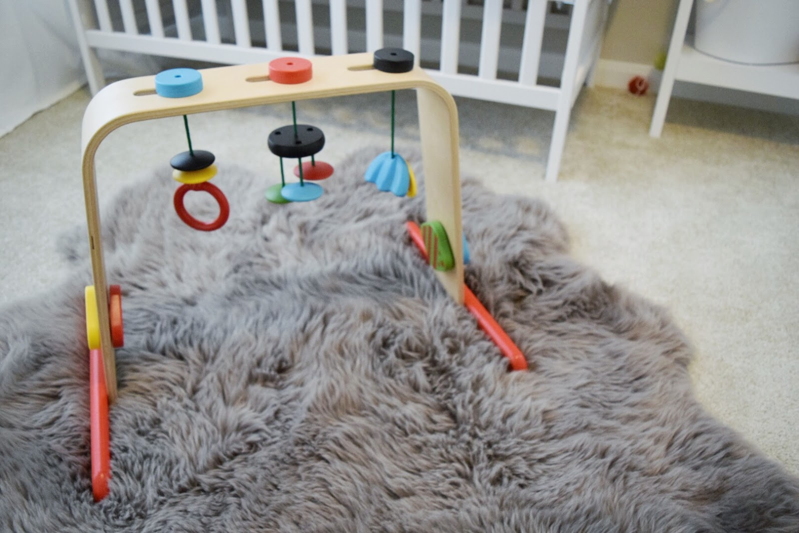 Costco Sheepskin Rug Mintedmethod By Sasha : Nursery Reveal: Baby Boy Nordic