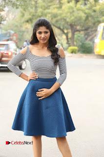 Telugu Actress Roshini Prakash Stills Short Dress at Saptagiri Express Release Press Meet  0074.JPG
