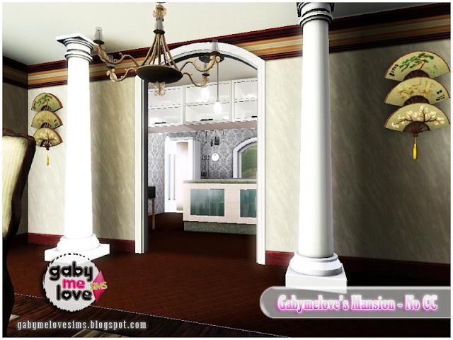 Gabymelove's Mansion |NO CC| ~ Lote Residencial, Sims 3. Entrada a la cocina.