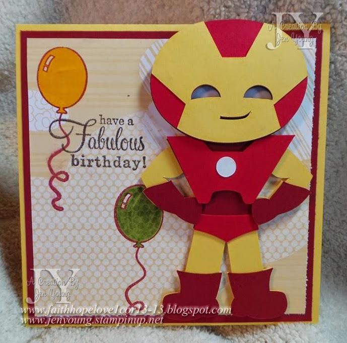 Little Cs Creations Super Hero Cards For Twin Boys – Iron Man Birthday Card