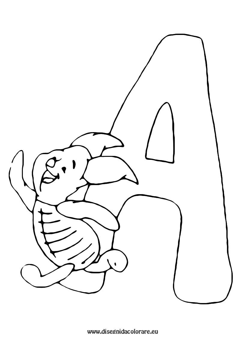 disegni da colorare: Disegni da colorare: LE LETTERE DELL