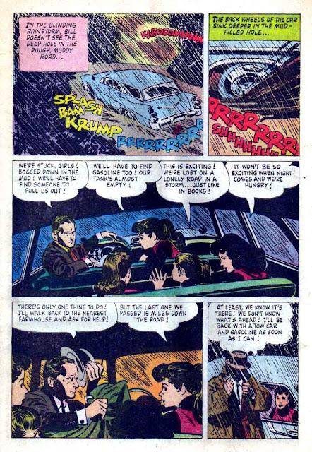 Lennon Sisters / Four Color Comics #1014 - Alex Toth dell 1950s comic book page art