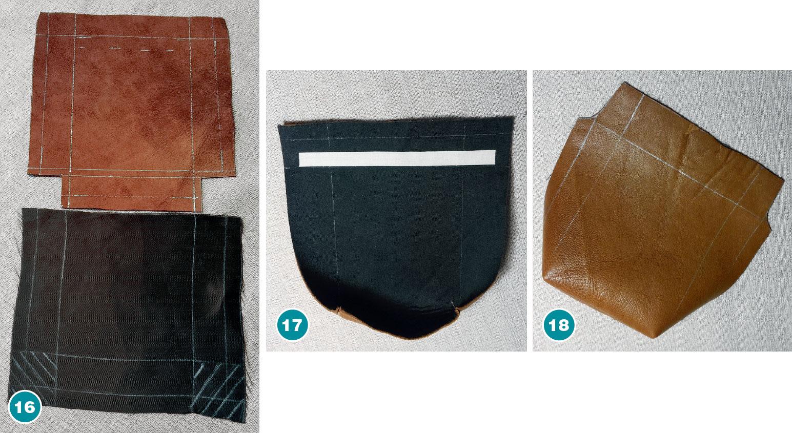 Карман-портфель из кожи