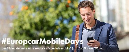 Bon plan Europcar : 10% de réduction pour toute réservation mobile