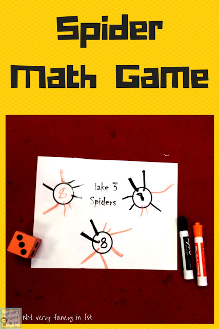 "Spider game: a fun way to practice making sums of 8. Free ""not very fancy""  game board."