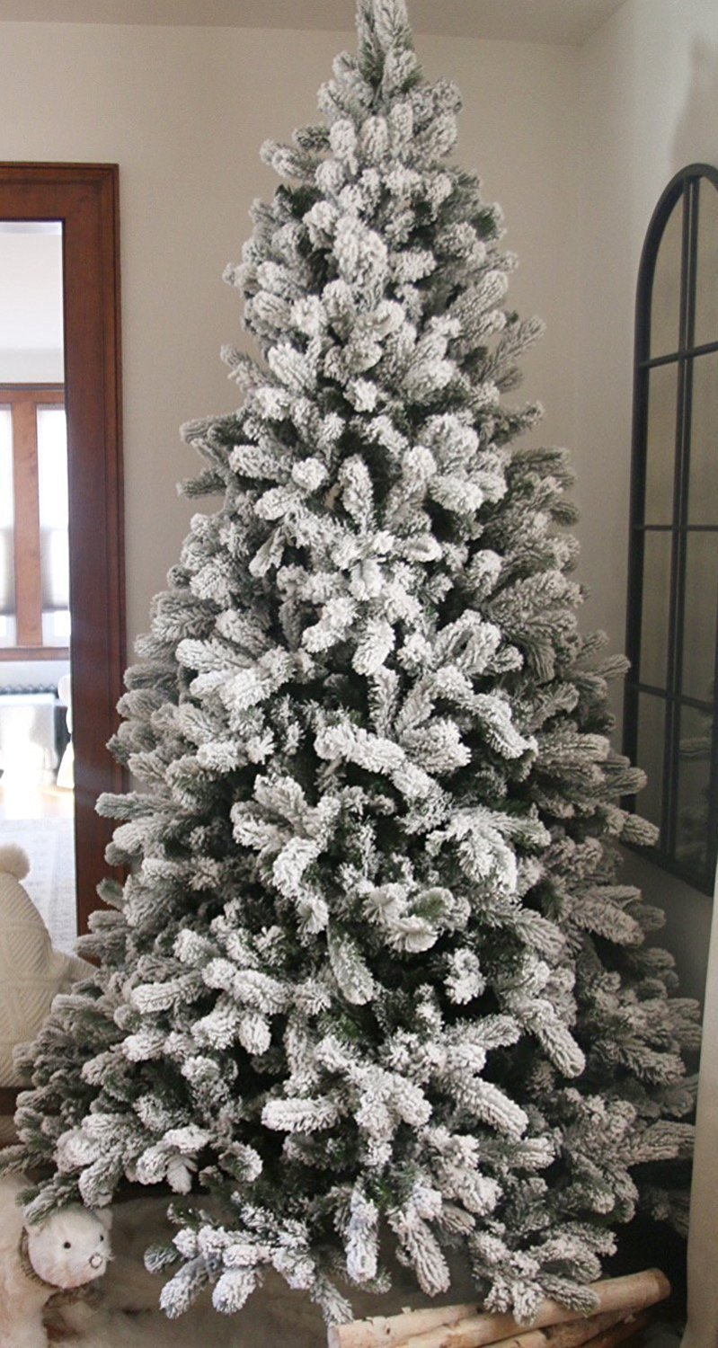 flocked christmas tree 30 best tree you can buy from holidays 29886