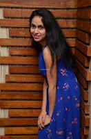 Pallavi Dora Actress in Sleeveless Blue Short dress at Prema Entha Madhuram Priyuraalu Antha Katinam teaser launch 009.jpg