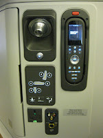 Business/First Class control panel on American Airlines 777-300ER
