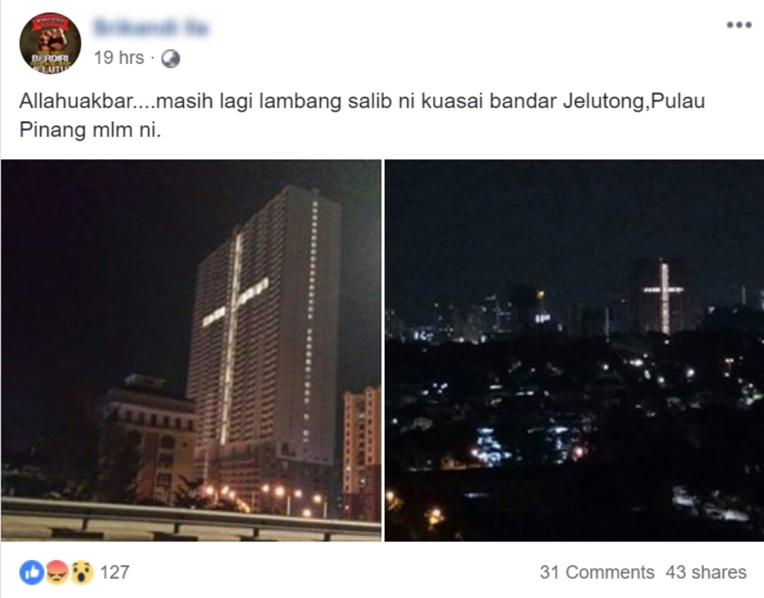 Salib gergasi Pulau Pinang