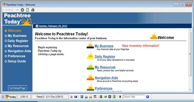 Guide line to Peachtree Set up of a new company