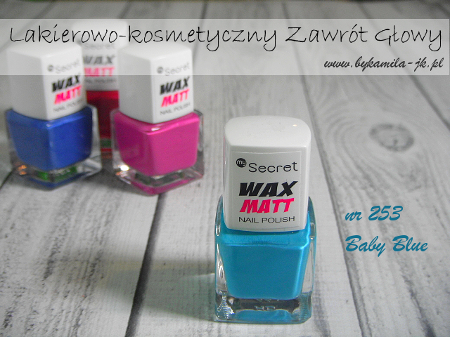 Lakiery My Secret Wax Matt -  Baby Blue