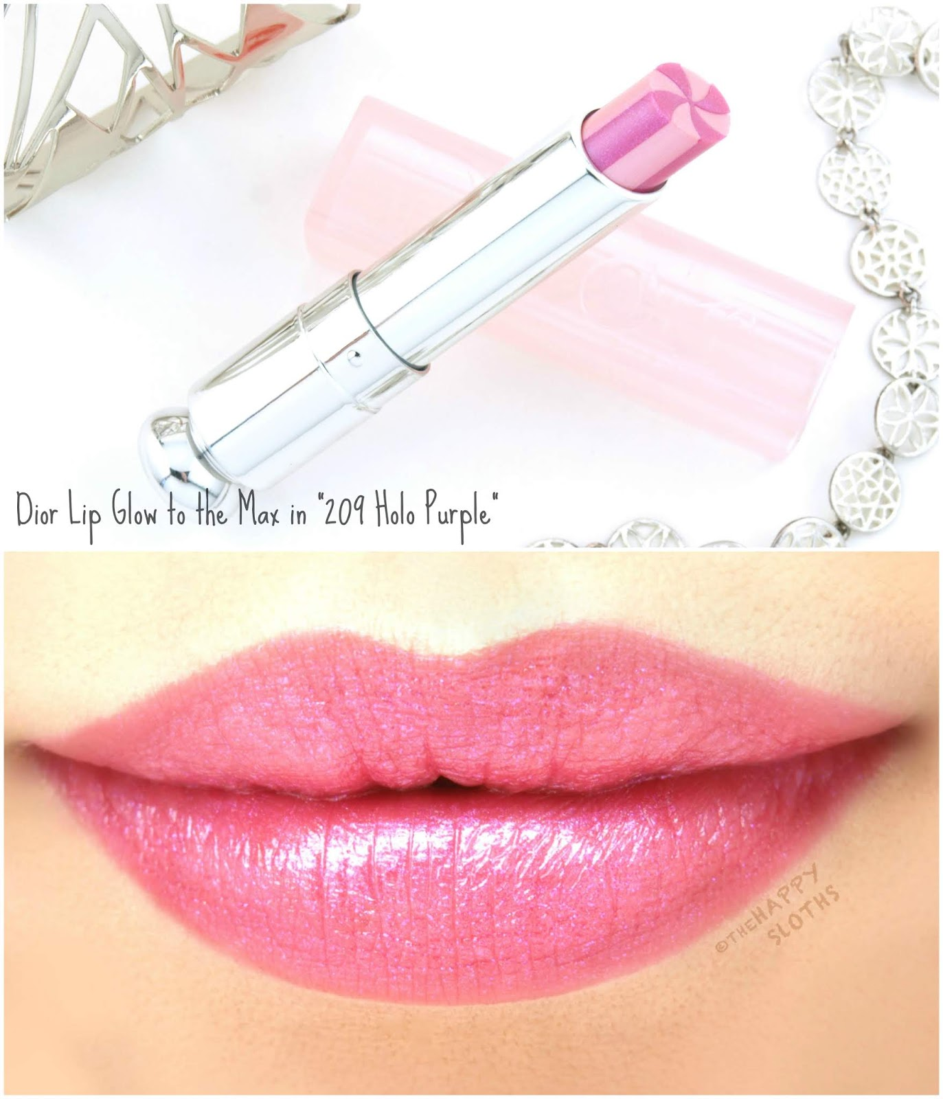 "Dior | Lip Glow to the Max in ""209 Holo Purple"": Review and Swatches"