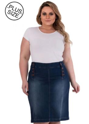fcbd1cad3 Camisete OutletDri Camisa Jeans Feminina Manga Longa Plus Size Azul Tamanho  G1(P PLUS SIZE)- G2(M PLUS SIZE)- G3 (G PLUS SIZE)