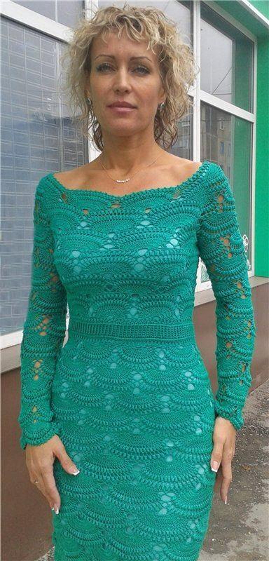 wzory sukienek szydełkiem