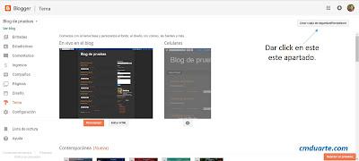 Descargar plantilla de blogger