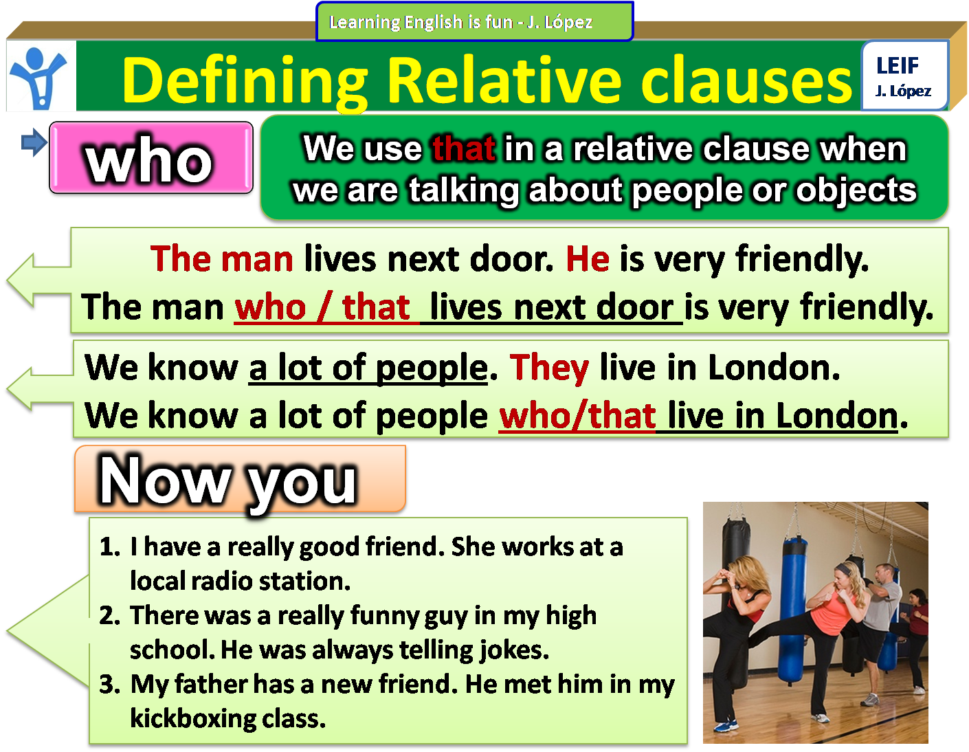 Relative clauses Interactive worksheet