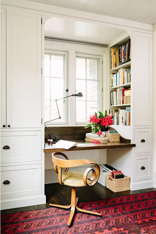 Desk space by Jessica Helgerson Interior Design