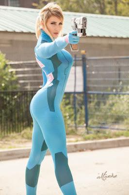 Zero Suit Samus Super Seksi dari Holly Wolf buah dada super besar dan gemuk sipa dipakai berkali-kali
