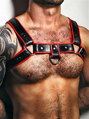 BoXer-Shoulder-Leather-Harness-with-Ring-Hook-Black-Red-Gayrado-Online-Shop
