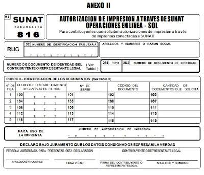 autorizacion de impresion formulario 816