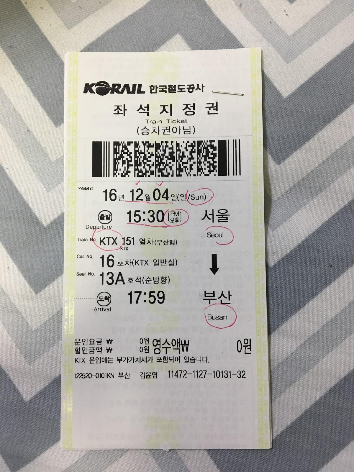 how to buy ktx ticket from seoul to busan