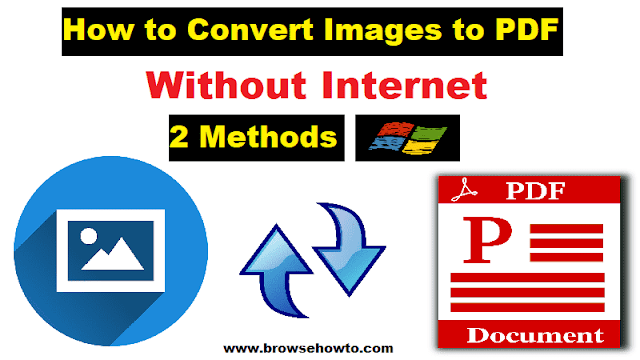 How to convert Images to PDF on Windows