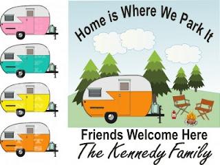 vintage camper personalized camper garden flag