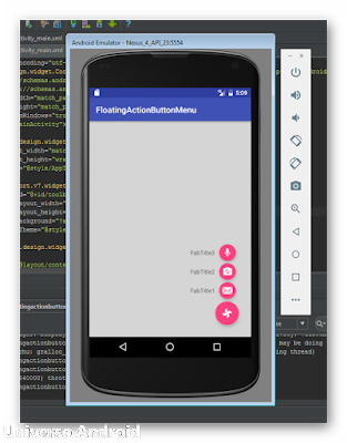 Android Studio - Floating Action Button Menu