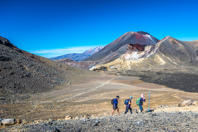 Tongariro Walkers on the Crossing